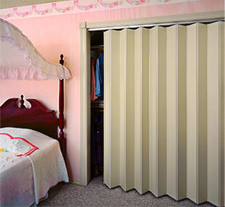 Puertas plegables para closets Cortinas plegables de pvc